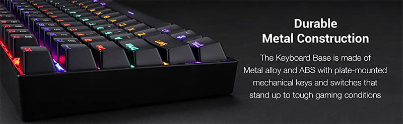 Backlit Mechanical Gaming Wired Keyboard